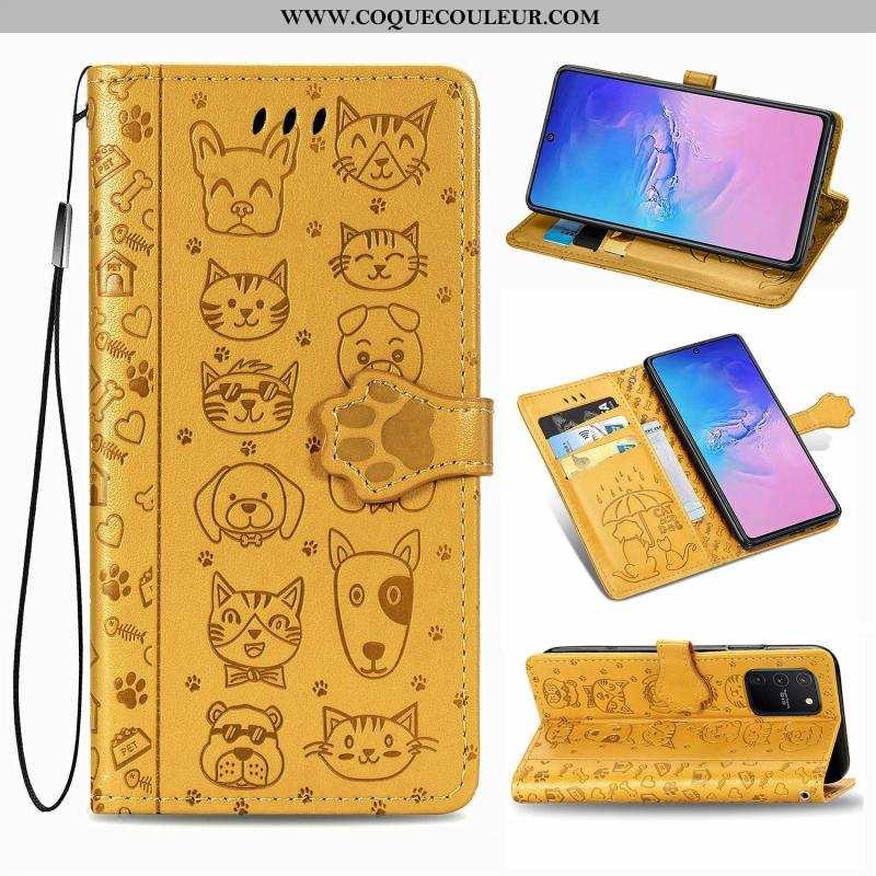 Housse Samsung Galaxy S10 Lite Cuir Téléphone Portable Clamshell, Étui Samsung Galaxy S10 Lite Charm