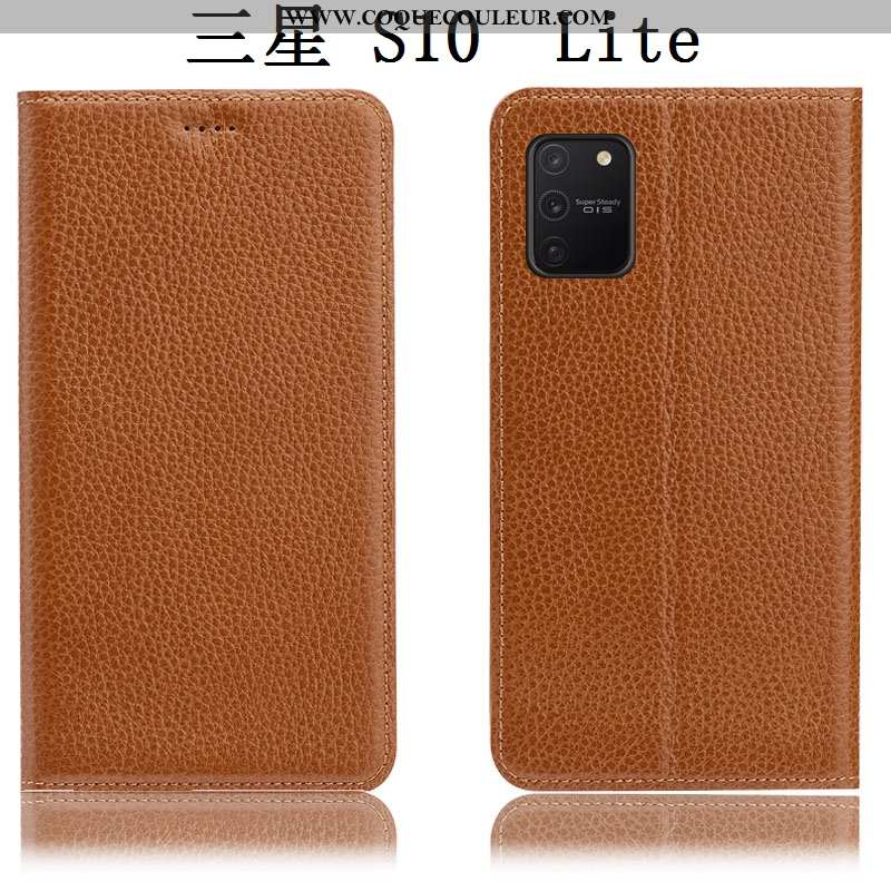 Coque Samsung Galaxy S10 Lite Protection Litchi Téléphone Portable, Housse Samsung Galaxy S10 Lite C