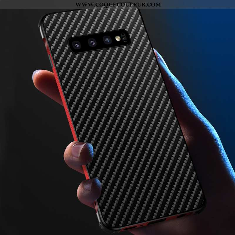 Coque Samsung Galaxy S10 Légère Luxe Étui, Housse Samsung Galaxy S10 Protection Créatif Noir