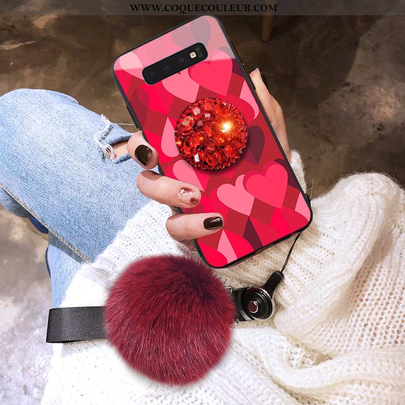 Housse Samsung Galaxy S10 Silicone Créatif Coque, Étui Samsung Galaxy S10 Protection Téléphone Porta