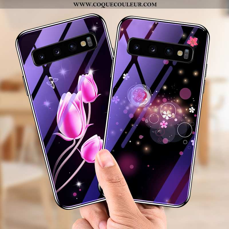 Étui Samsung Galaxy S10 Créatif Étoile Personnalité, Coque Samsung Galaxy S10 Protection Difficile V