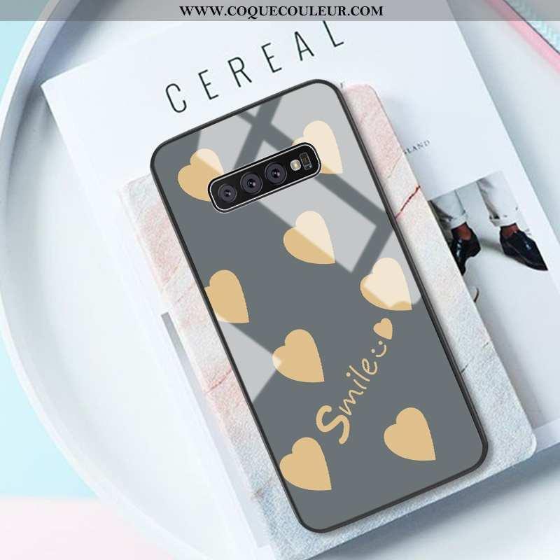 Housse Samsung Galaxy S10 Créatif Coque Téléphone Portable, Étui Samsung Galaxy S10 Tendance Gris