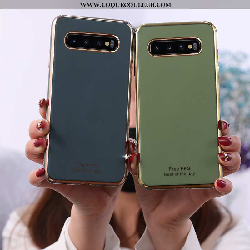 Étui Samsung Galaxy S10 Mode Ultra Téléphone Portable, Coque Samsung Galaxy S10 Protection Bleu