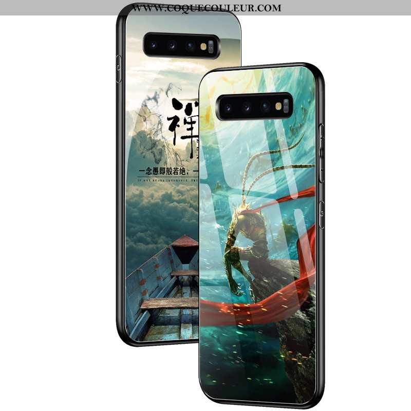 Étui Samsung Galaxy S10 Créatif Protection Net Rouge, Coque Samsung Galaxy S10 Tendance Verte