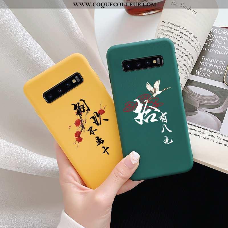 Housse Samsung Galaxy S10 Silicone Téléphone Portable Étui, Étui Samsung Galaxy S10 Délavé En Daim A