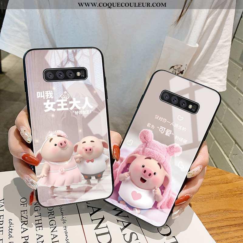 Coque Samsung Galaxy S10 Dessin Animé Rose Tout Compris, Housse Samsung Galaxy S10 Charmant Mignonne