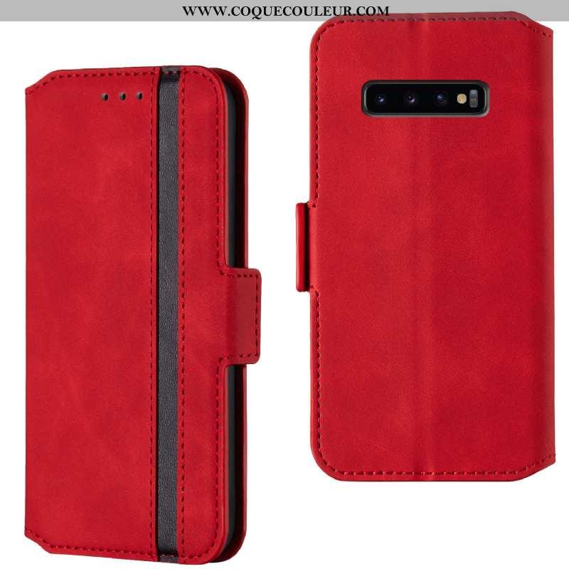 Étui Samsung Galaxy S10 Protection Incassable Étui, Coque Samsung Galaxy S10 Personnalité Clamshell