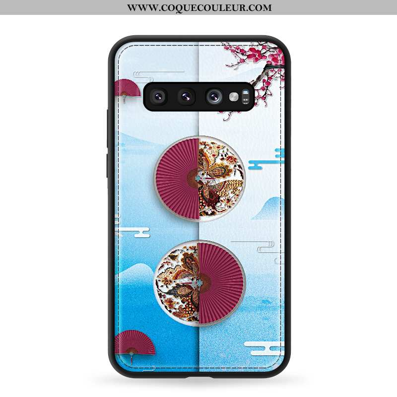 Coque Samsung Galaxy S10 Modèle Fleurie Protection Qualité, Housse Samsung Galaxy S10 Fluide Doux St