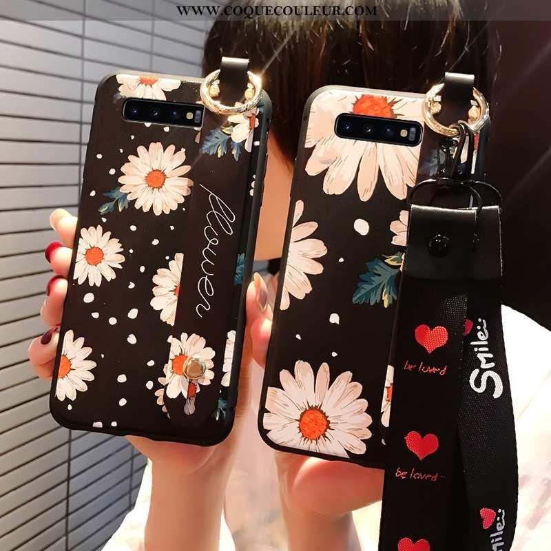 Coque Samsung Galaxy S10 Délavé En Daim Incassable Étui, Housse Samsung Galaxy S10 Personnalité 2020