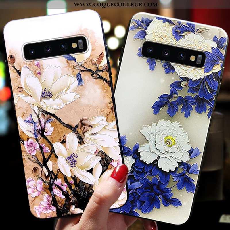 Étui Samsung Galaxy S10+ Ornements Suspendus Coque Protection, Samsung Galaxy S10+ Ultra Silicone Bl