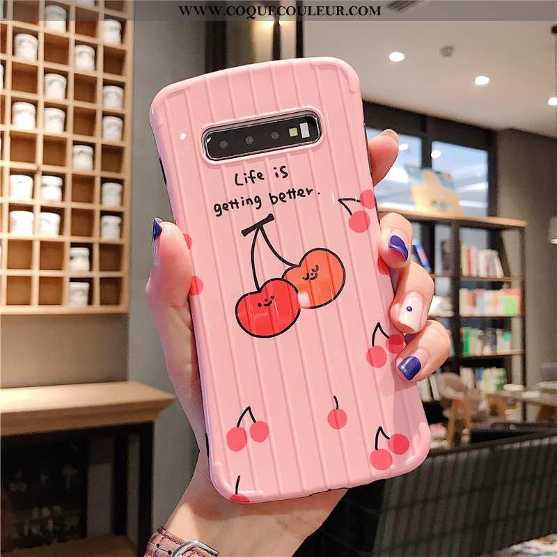 Coque Samsung Galaxy S10+ Personnalité Téléphone Portable Rose, Housse Samsung Galaxy S10+ Créatif F