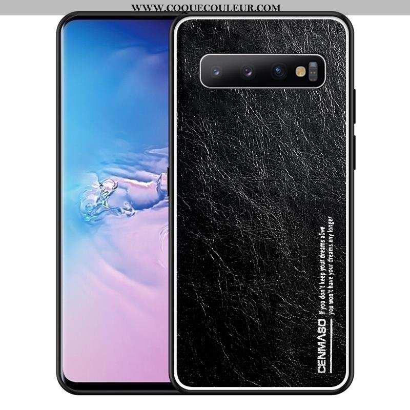 Coque Samsung Galaxy S10+ Ultra Étoile Cuir Véritable, Housse Samsung Galaxy S10+ Légère Tout Compri