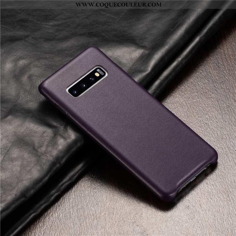 Étui Samsung Galaxy S10+ Cuir Véritable Coque Téléphone Portable, Samsung Galaxy S10+ Cuir Incassabl