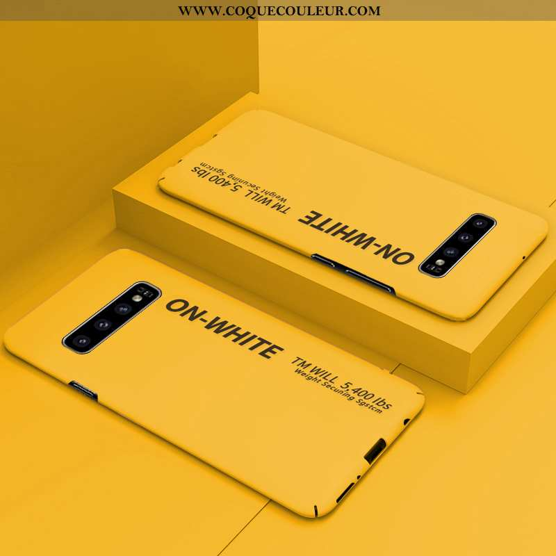 Housse Samsung Galaxy S10+ Ultra Étui Téléphone Portable, Samsung Galaxy S10+ Tendance Difficile Jau
