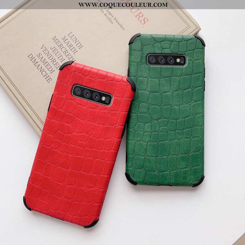 Coque Samsung Galaxy S10+ Personnalité Étoile Clair, Housse Samsung Galaxy S10+ Créatif Légère Rouge
