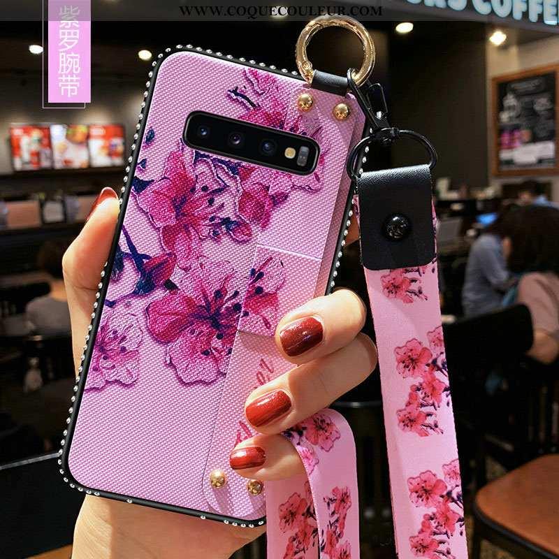Housse Samsung Galaxy S10+ Fluide Doux Coque Incassable, Étui Samsung Galaxy S10+ Silicone Étoile Ro