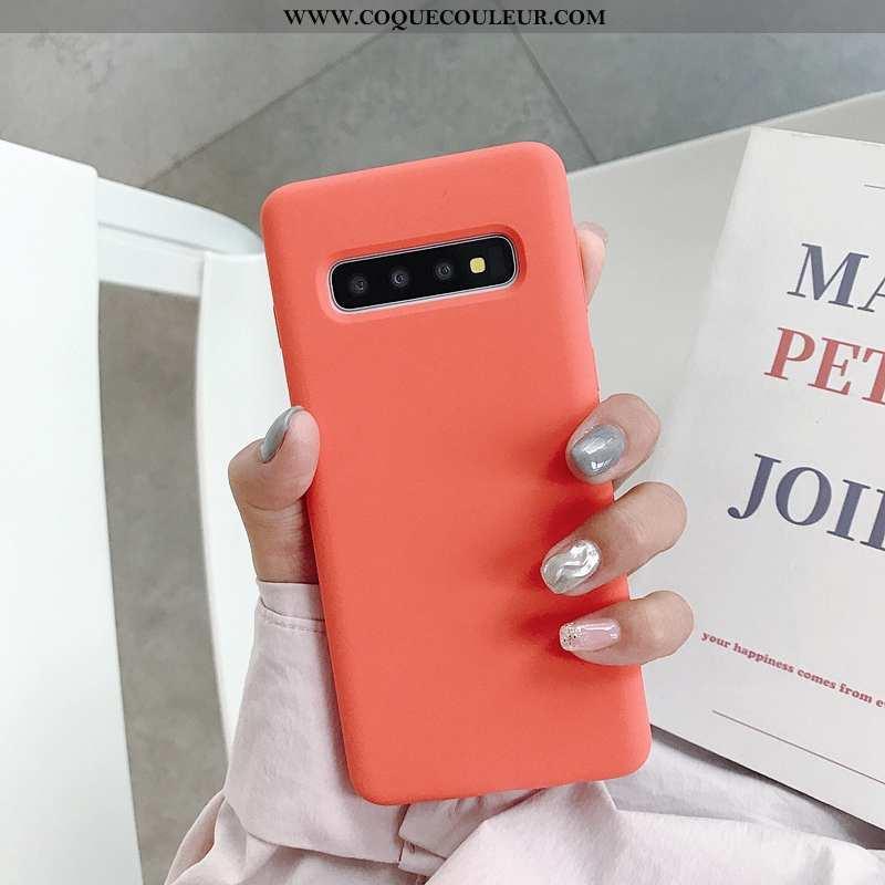 Coque Samsung Galaxy S10+ Tendance Net Rouge Nouveau, Housse Samsung Galaxy S10+ Fluide Doux