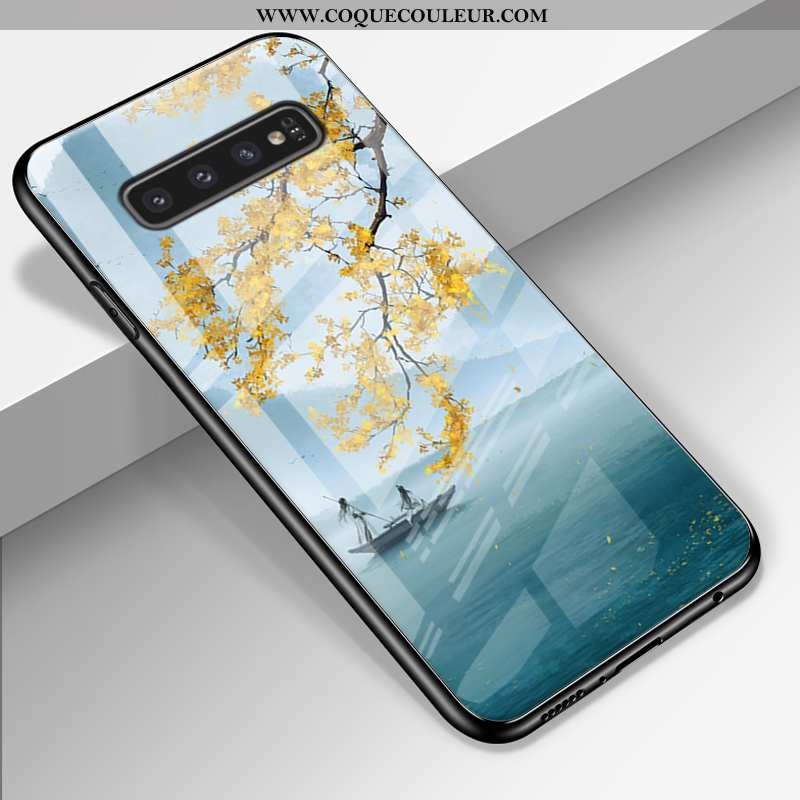 Coque Samsung Galaxy S10+ Fluide Doux Incassable Créatif, Housse Samsung Galaxy S10+ Silicone Ciel É