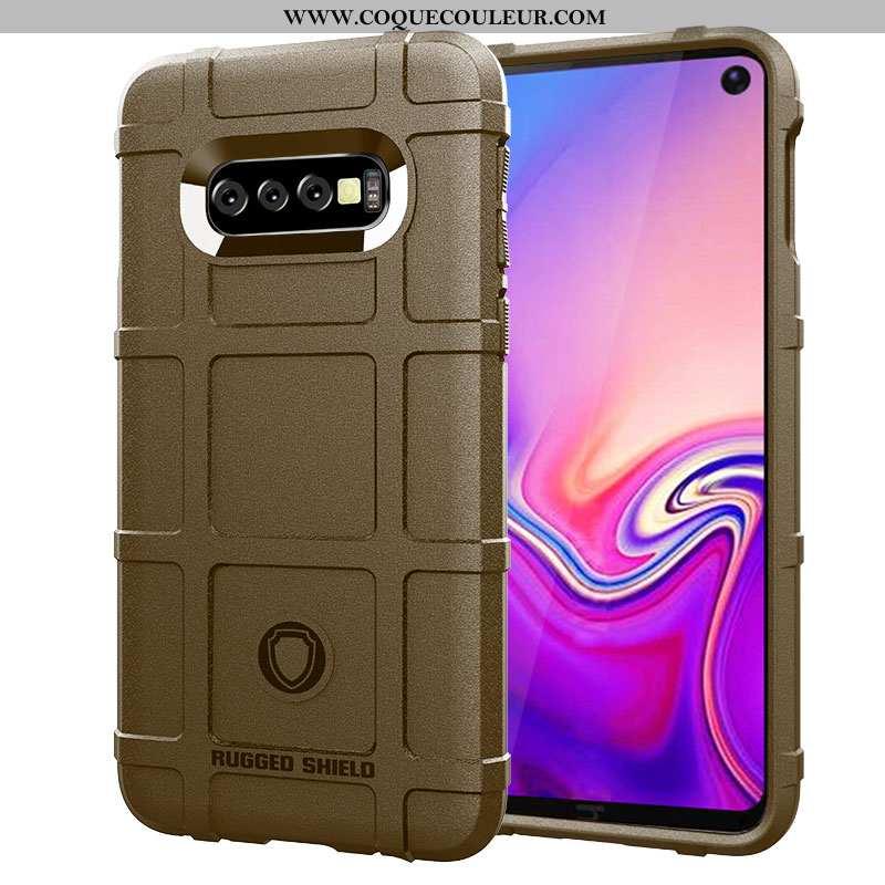 Housse Samsung Galaxy S10+ Tendance Coque Marron, Étui Samsung Galaxy S10+ Fluide Doux Téléphone Por