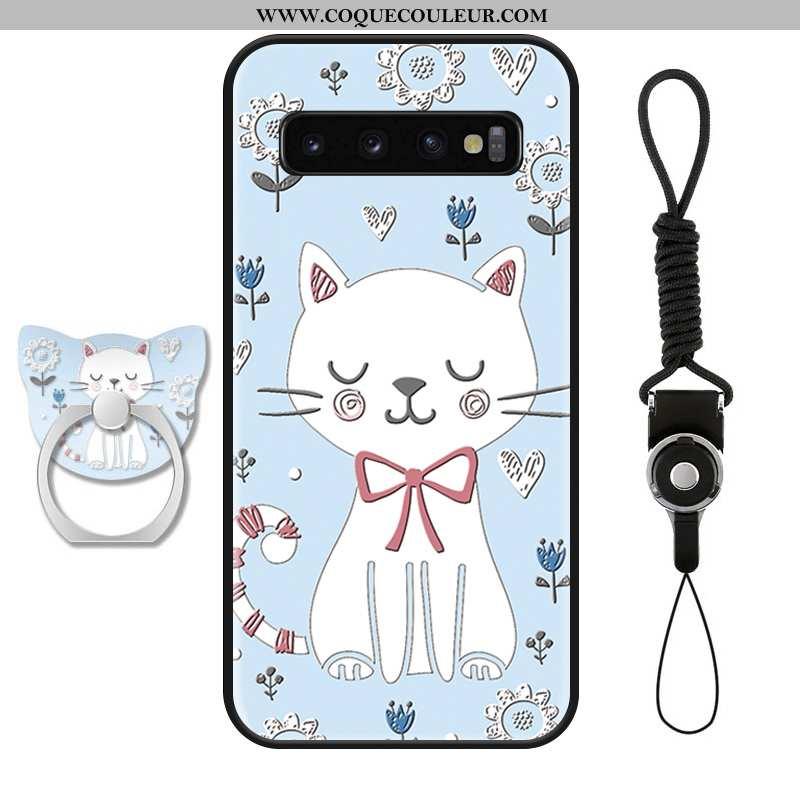 Coque Samsung Galaxy S10+ Dessin Animé Étoile Tendance, Housse Samsung Galaxy S10+ Charmant Protecti