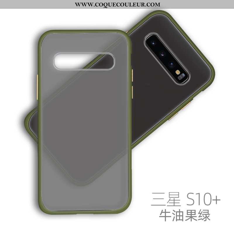 Coque Samsung Galaxy S10+ Silicone Vent Nouveau, Housse Samsung Galaxy S10+ Protection Difficile Ver