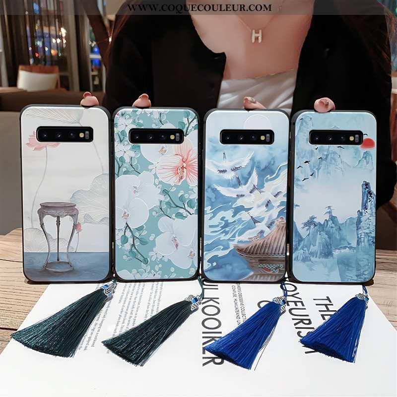 Housse Samsung Galaxy S10+ Silicone Fluide Doux Palais, Étui Samsung Galaxy S10+ Protection Légère B