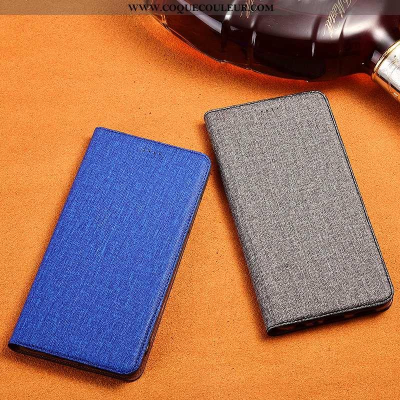 Coque Samsung Galaxy S10+ Fluide Doux Incassable, Housse Samsung Galaxy S10+ Protection Cuir Bleu