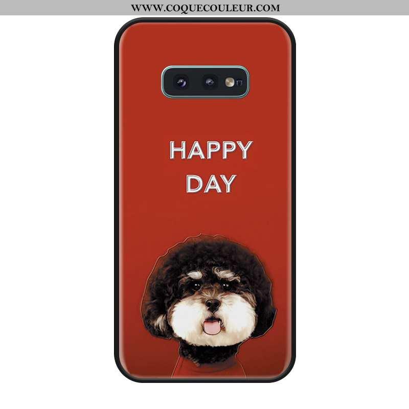 Étui Samsung Galaxy S10e Dessin Animé Téléphone Portable Rouge, Coque Samsung Galaxy S10e Silicone É