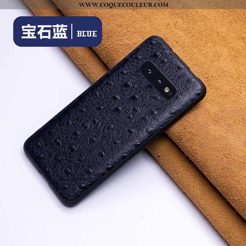 Housse Samsung Galaxy S10e Ultra Cuir Bleu, Étui Samsung Galaxy S10e Tendance Incassable Bleu