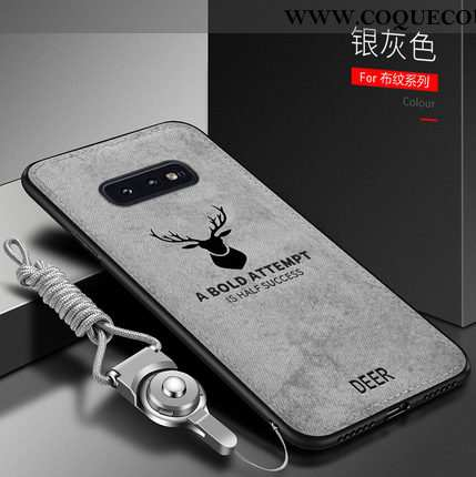 Housse Samsung Galaxy S10e Vintage Incassable Silicone, Étui Samsung Galaxy S10e Fluide Doux Protect