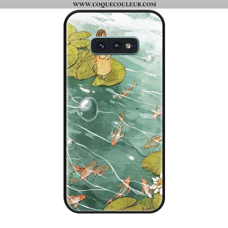 Coque Samsung Galaxy S10e Fluide Doux Tout Compris Étoile, Housse Samsung Galaxy S10e Silicone Verte