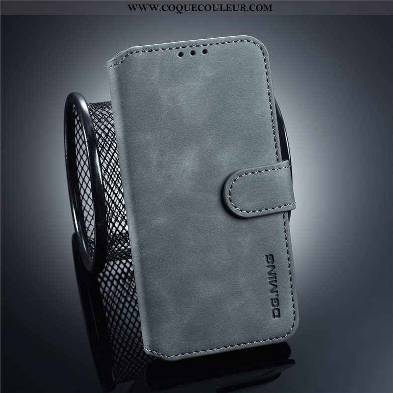 Coque Samsung Galaxy S10e Délavé En Daim Cuir Étui, Housse Samsung Galaxy S10e Personnalité Business