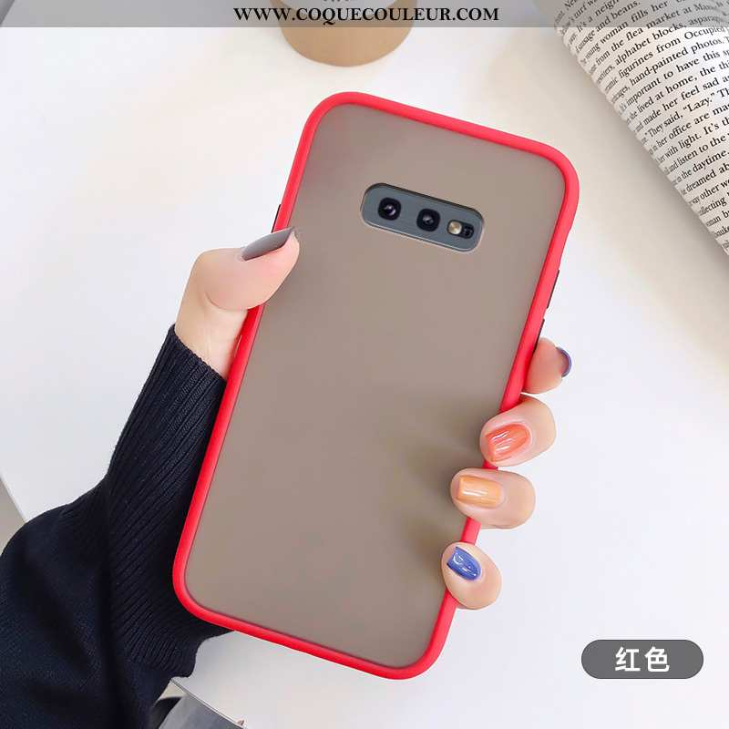 Étui Samsung Galaxy S10e Protection Coque Fluide Doux, Samsung Galaxy S10e Transparent Rouge