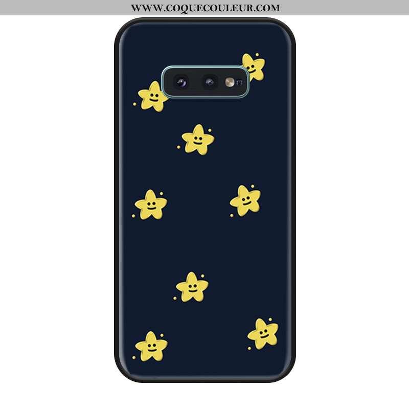 Étui Samsung Galaxy S10e Silicone Bleu Marin Étui, Coque Samsung Galaxy S10e Mode Incassable Bleu Fo