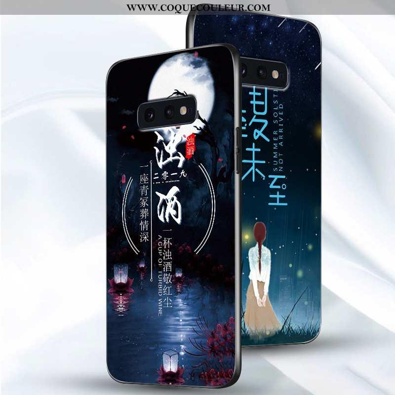 Coque Samsung Galaxy S10e Créatif Amoureux, Housse Samsung Galaxy S10e Ultra Légère Bleu Foncé