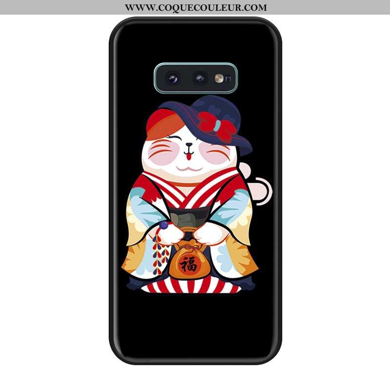 Étui Samsung Galaxy S10e Silicone Noir Téléphone Portable, Coque Samsung Galaxy S10e Incassable Tout