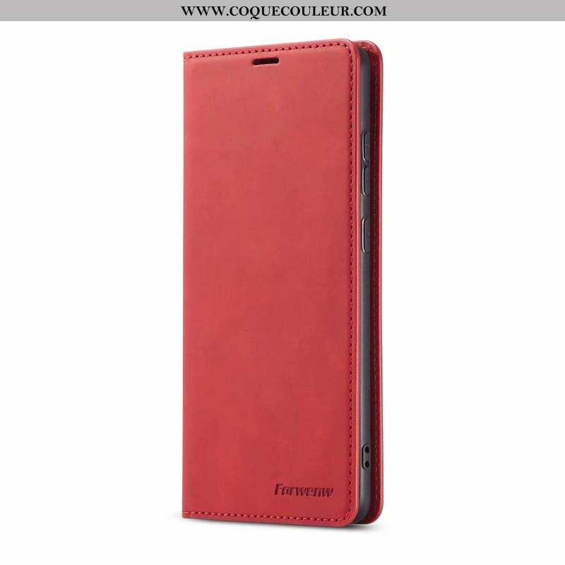 Étui Samsung Galaxy S20 Cuir Coque Téléphone Portable, Samsung Galaxy S20 Créatif Carte Rouge
