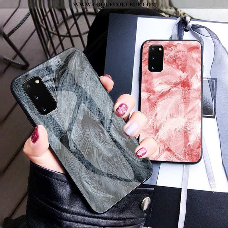 Étui Samsung Galaxy S20 Personnalité Simple Incassable, Coque Samsung Galaxy S20 Créatif Amoureux Gr