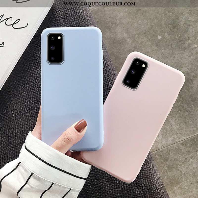 Housse Samsung Galaxy S20 Protection Étoile Silicone, Étui Samsung Galaxy S20 Légère Bleu
