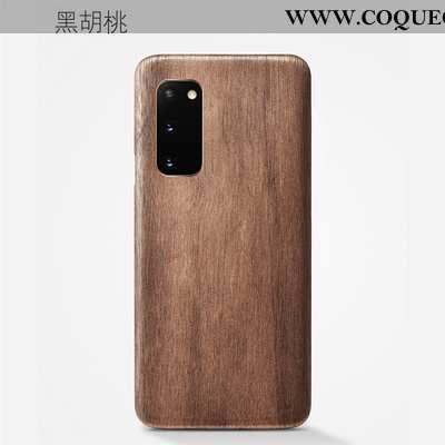 Étui Samsung Galaxy S20 Protection Modèle Fleurie Qualité, Coque Samsung Galaxy S20 En Bois Khaki