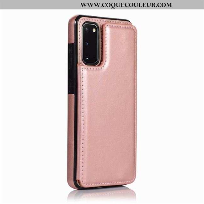 Étui Samsung Galaxy S20 Cuir Rose Étui, Coque Samsung Galaxy S20 Créatif Téléphone Portable