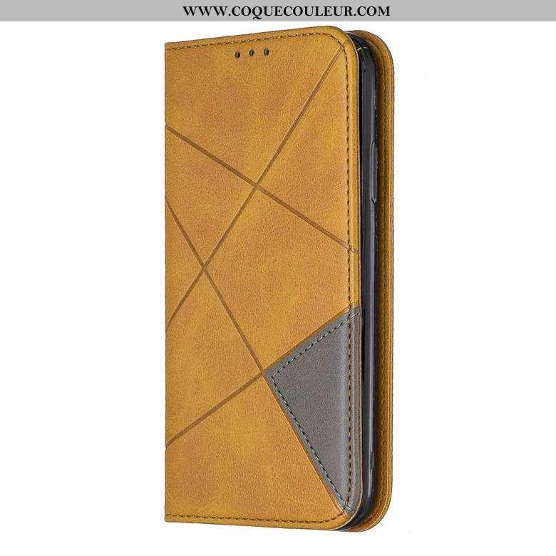 Coque Samsung Galaxy S20 Cuir Téléphone Portable Étoile, Housse Samsung Galaxy S20 Protection Jaune