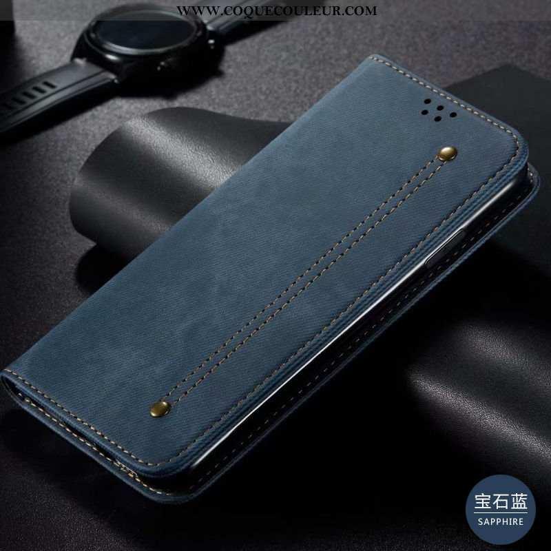 Coque Samsung Galaxy S20 Cuir Véritable Étoile Bleu, Housse Samsung Galaxy S20 Étui Incassable Bleu