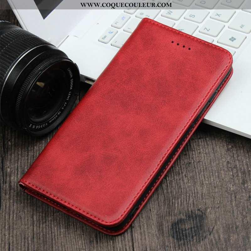 Étui Samsung Galaxy S20 Cuir Rouge Pu, Coque Samsung Galaxy S20 Téléphone Portable