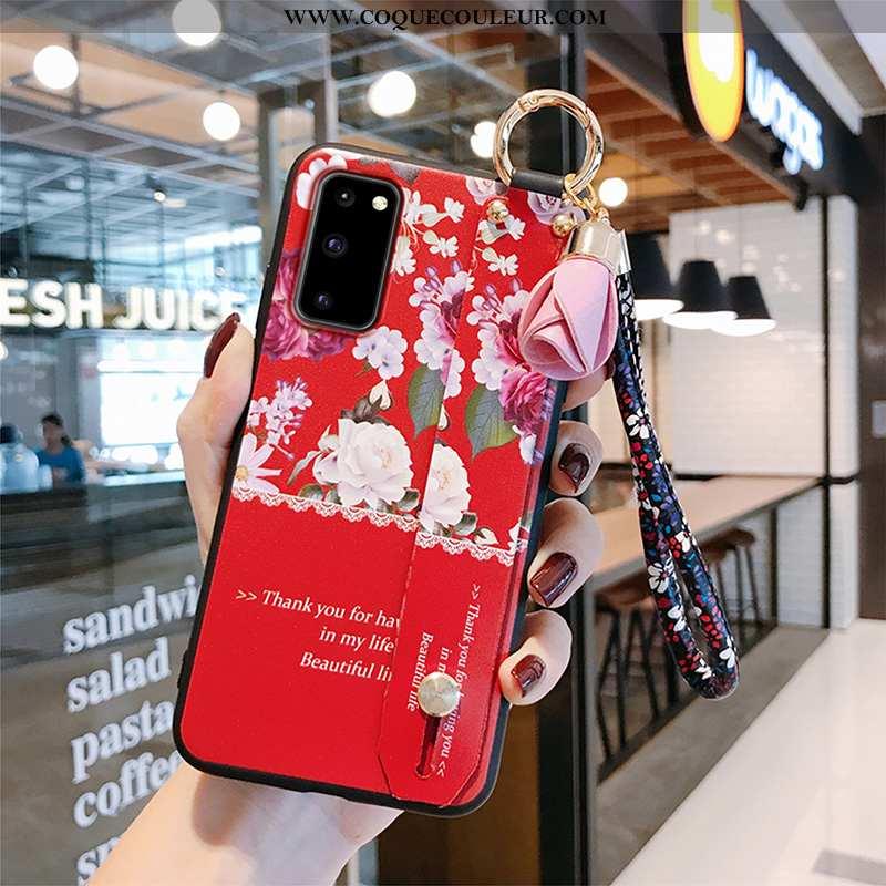 Coque Samsung Galaxy S20 Légère Délavé En Daim Téléphone Portable, Housse Samsung Galaxy S20 Fluide