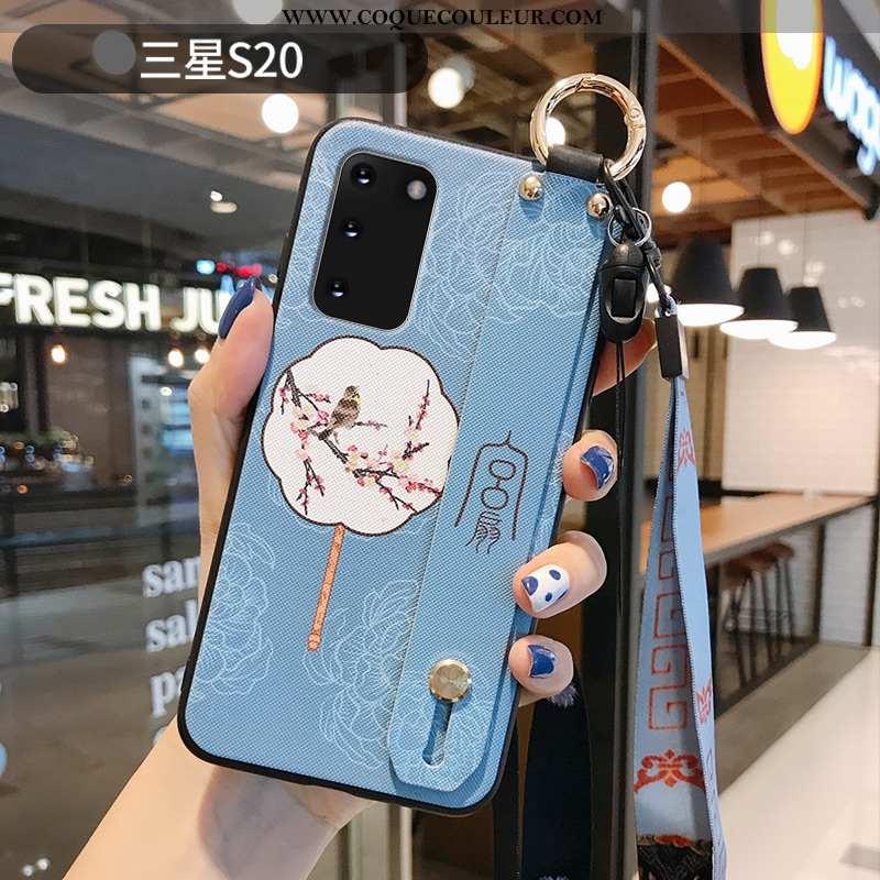 Étui Samsung Galaxy S20 Délavé En Daim Incassable Coque, Coque Samsung Galaxy S20 Ornements Suspendu