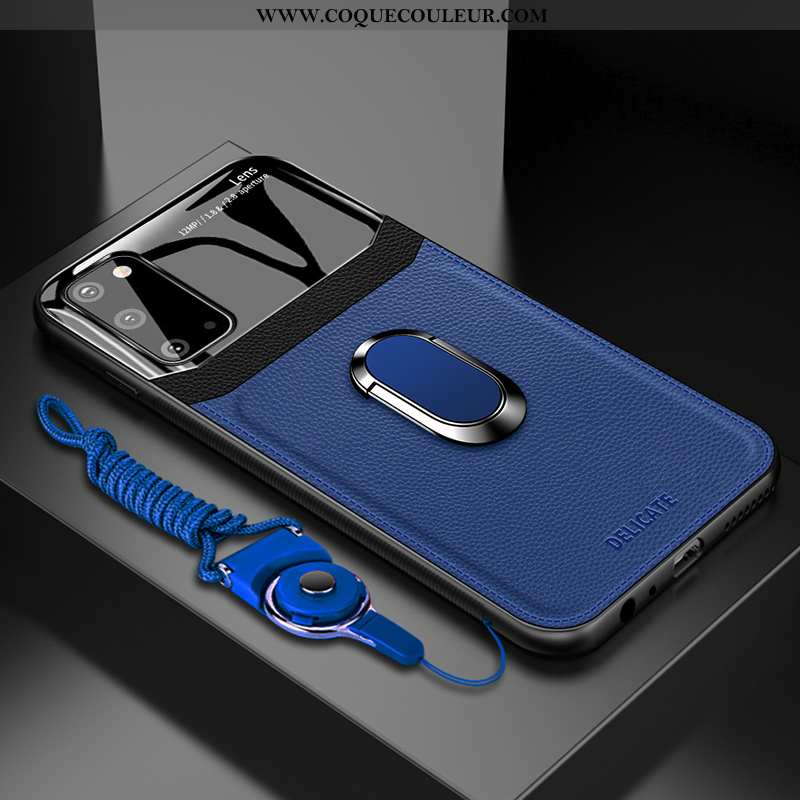 Housse Samsung Galaxy S20 Silicone Bleu Marin Téléphone Portable, Étui Samsung Galaxy S20 Protection