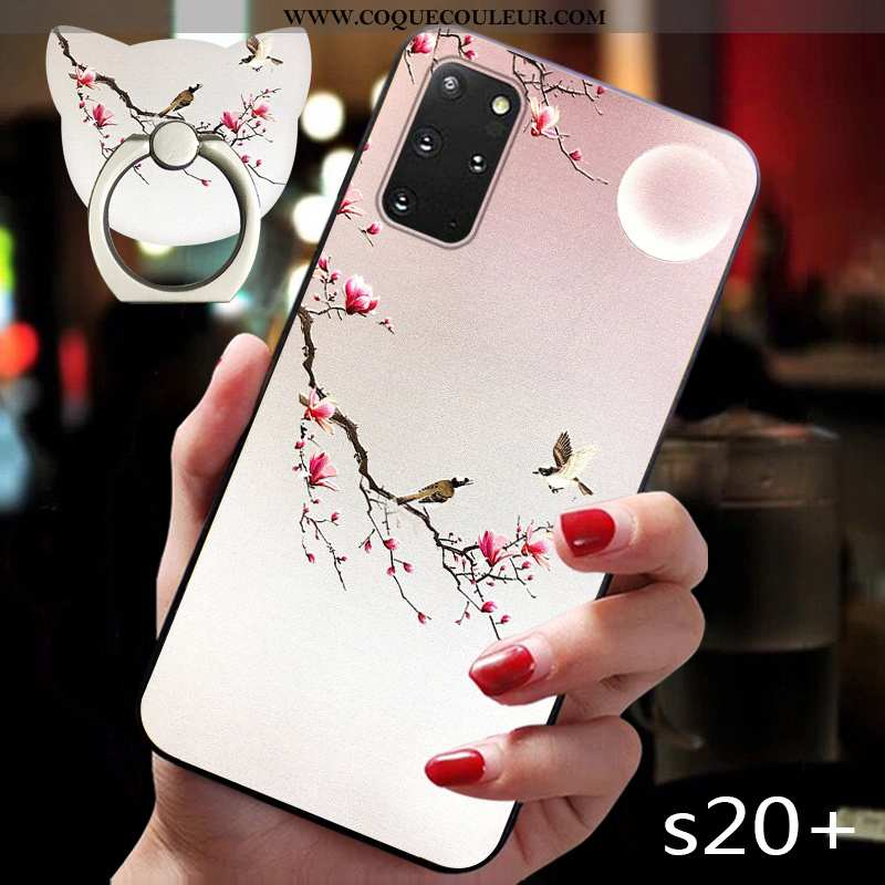 Coque Samsung Galaxy S20+ Fluide Doux Vent Personnalité, Housse Samsung Galaxy S20+ Silicone Style C