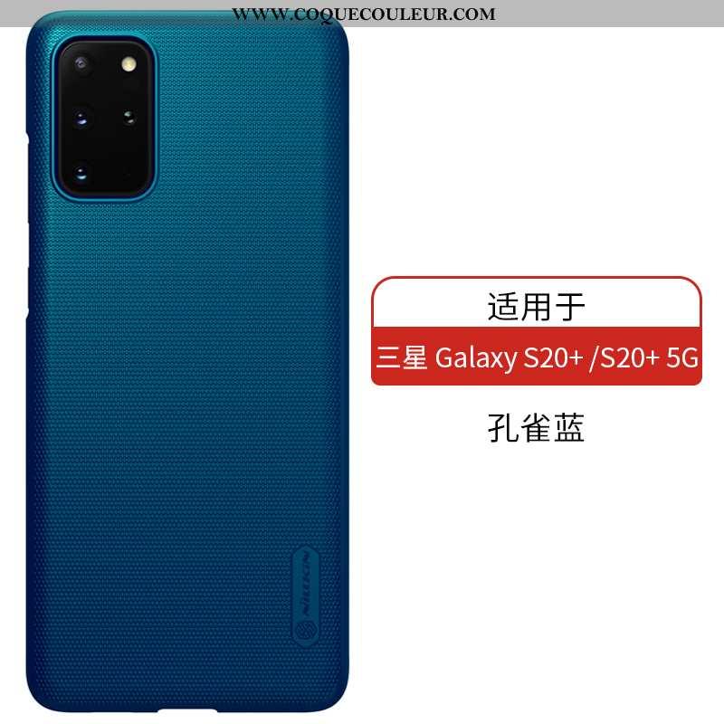 Coque Samsung Galaxy S20+ Mode Étui Bleu, Housse Samsung Galaxy S20+ Protection Téléphone Portable B