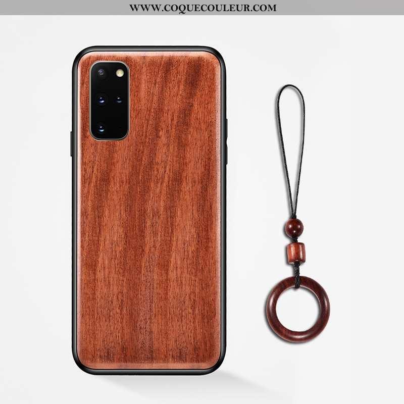 Étui Samsung Galaxy S20+ Modèle Fleurie Anneau Étui, Coque Samsung Galaxy S20+ Protection En Bois Ma